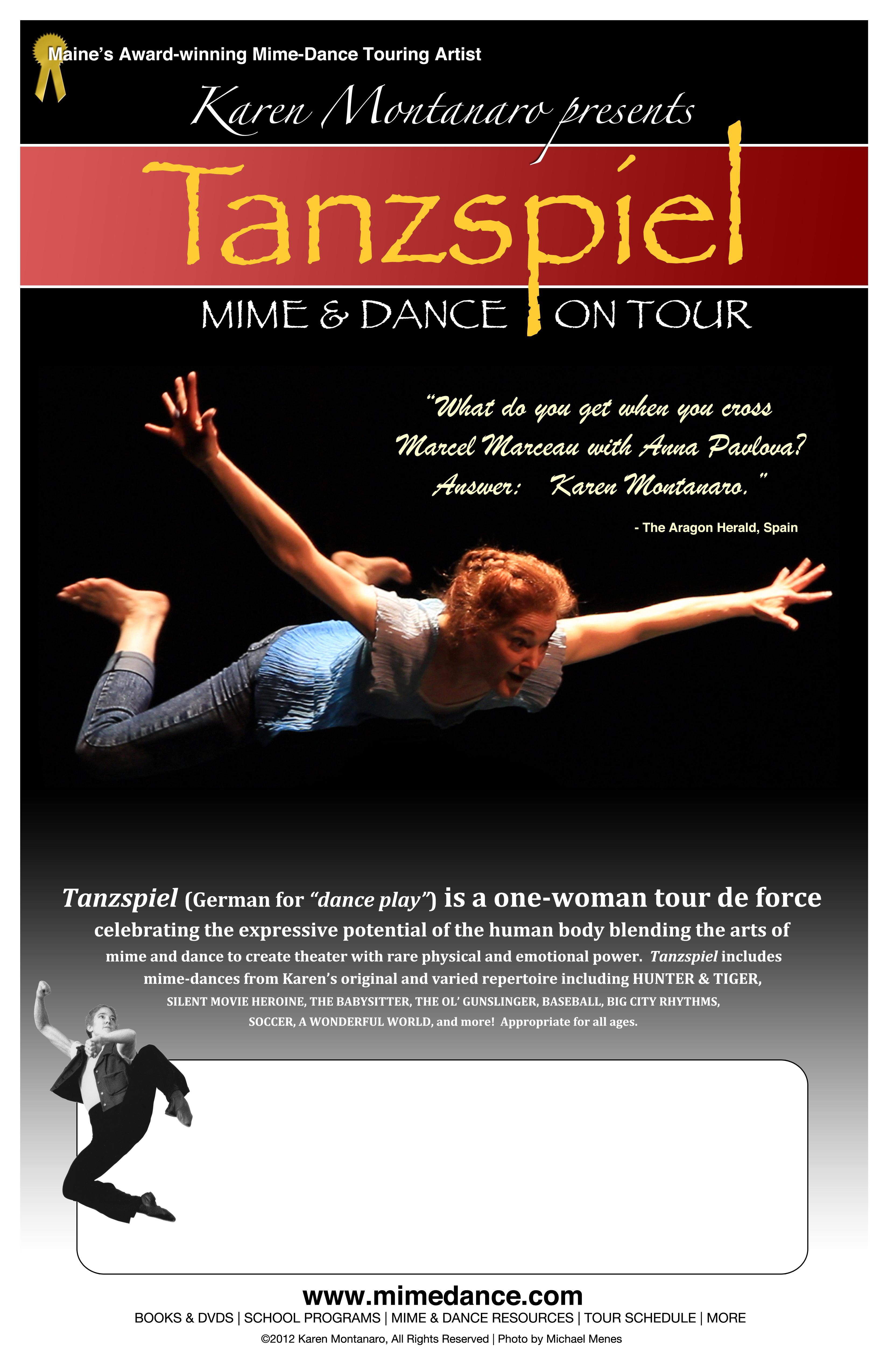 tanzspiel karen montanaro mime and dance on tour